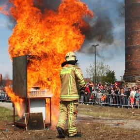 Opendeurdag Brandweerzone Centrum demonstratie